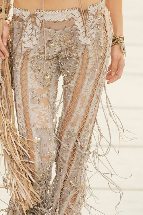 Roberto Cavalli angel pants. completely amazing and incredibly impractical....