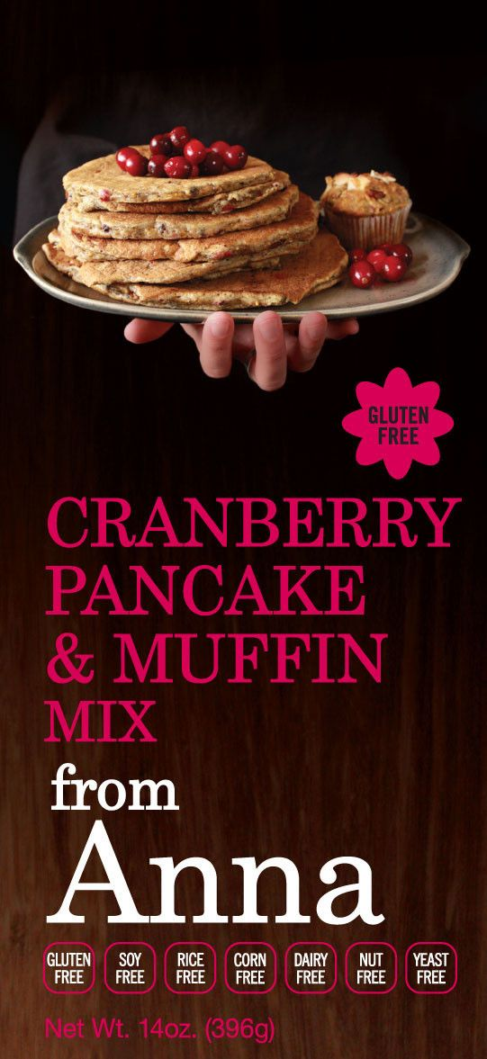 Breads from Anna — Gluten & Yeast Free Cranberry Pancake & Muffin Mix — Corn, Dairy, Soy, Nut and Rice Free too! #glutenfree
