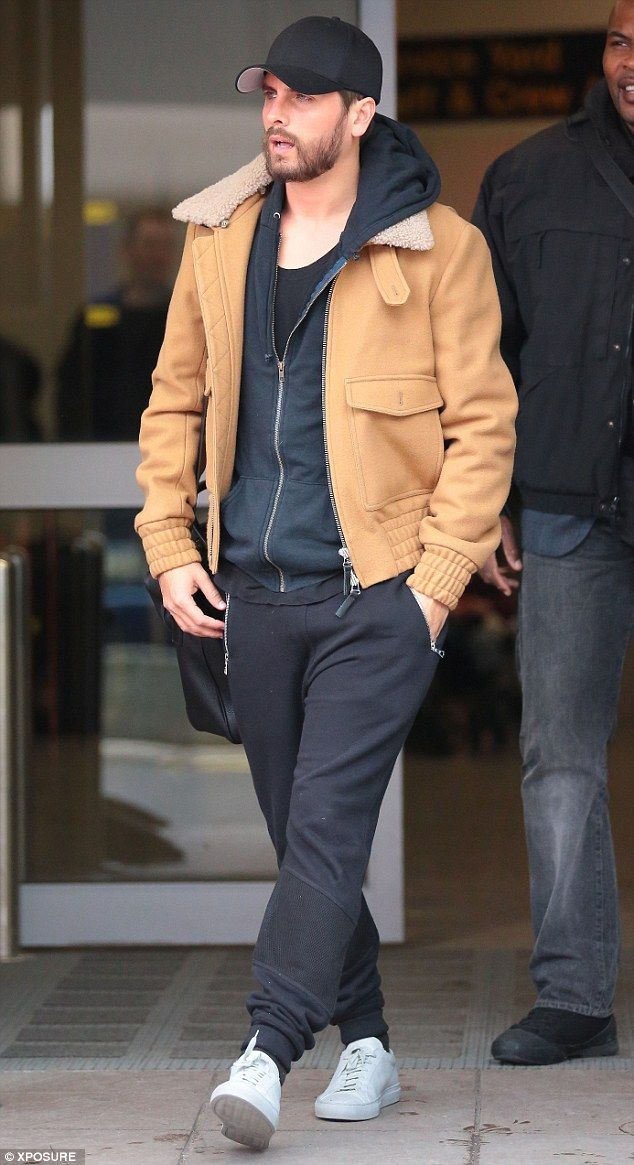 Landing: Scott Disick landed in Manchester ahead of a nightclub appearance in Liverpool ci...