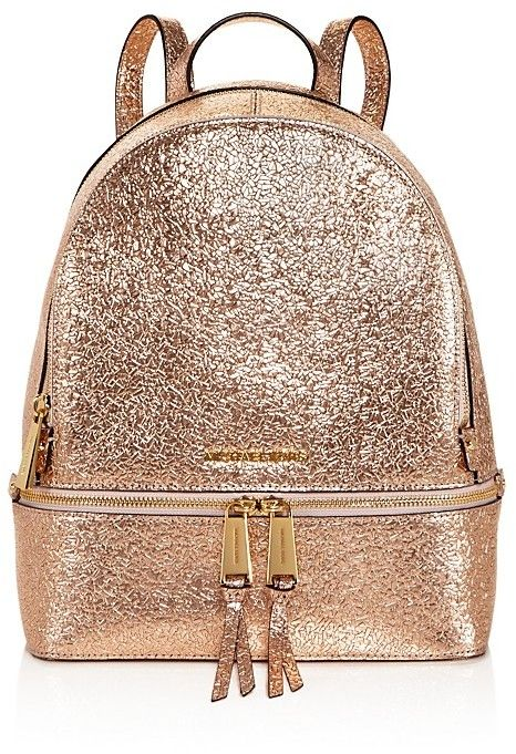 a2847321bb04 MICHAEL Michael Kors Rhea Zip Metallic Medium Leather Backpack - 100%  Exclusive