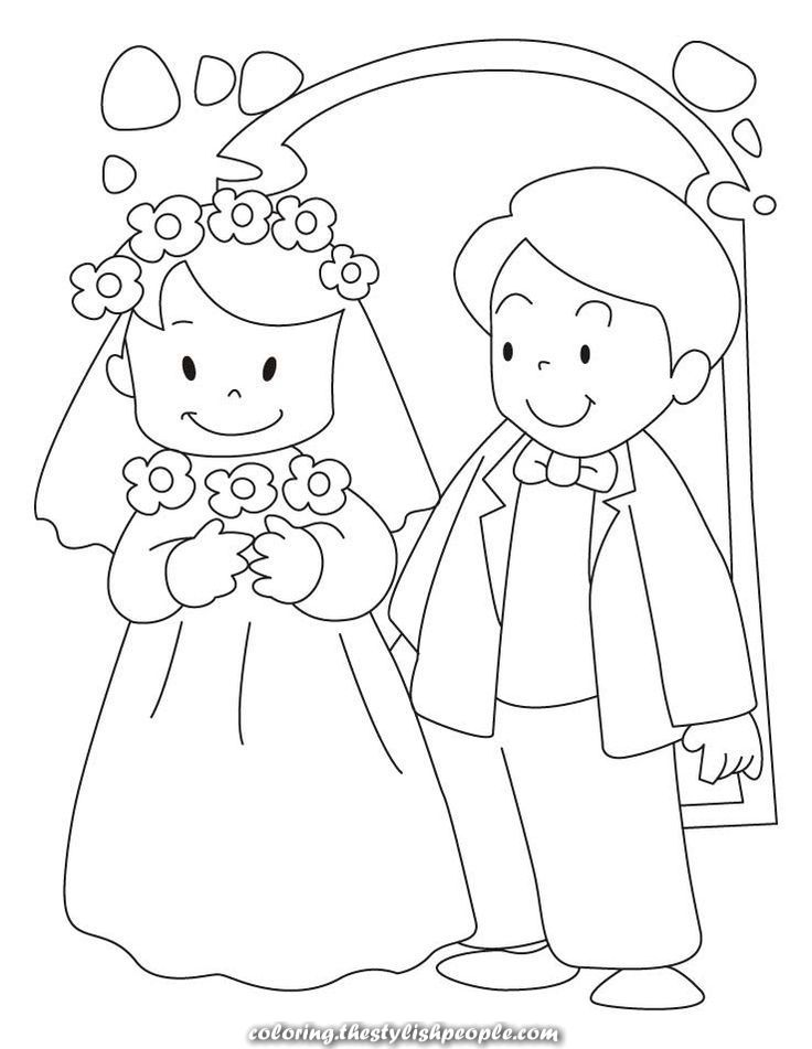 Wedding Ceremony Coloring Pages Wedding Coloring Pages Groom