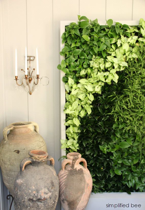 live plant wall // Woodside Decorator Show House  #plant #wall
