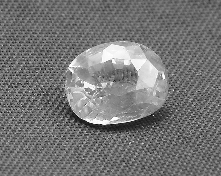 White Sapphire Ceylon Srilankan Natural Gemstone 1.50 Carat | AstroKapoor.com | White Sapphire gemstone Price in India | White Sapphire gemstone Price in Delhi | Buy Certified White Sapphire Gemstone in wholesale prices INR 13500