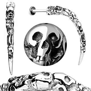 Sale - Skull Carved Long Claw Labret Stud