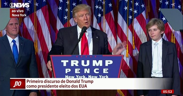 Donald Trump vence Hillary Clinton e é eleito presidente dos EUA
