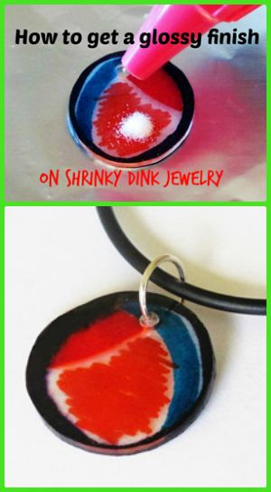 Resin Obsession blog:  How to make shrinky dink jewelry with a glossy finish