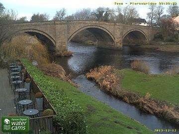 River Tees from the George Hotel, Piercebridge, Durham