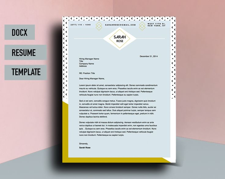 Beautiful Resume Cv Template For Microsoft Word With Matching   Beautiful  Resume Designs  Beautiful Resume Designs