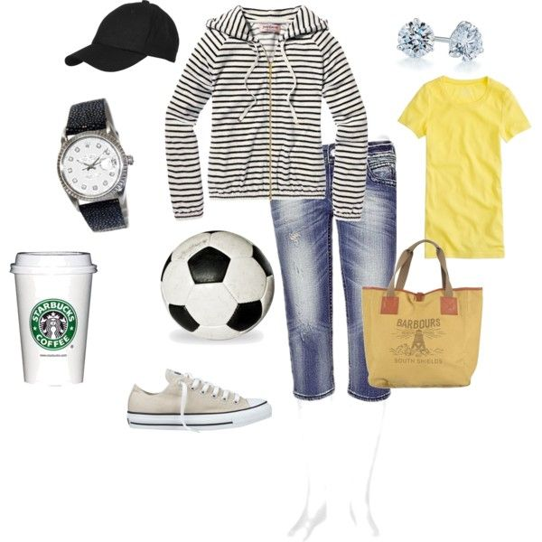 Saturday Morning, created by macadoo45 on Polyvore - Soccer mom sporting a DIAMOND ROLEX!! http://www.princetonwatches.com/shop/PVU196-7983.asp