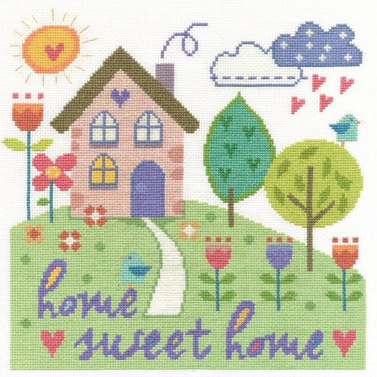 Home Sweet Home Cross Stitch Kit - £24.00 on Past Impressions   by DMC