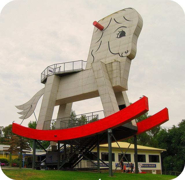 The Big Rocking Horse, Gumeracha, South Australia - while kids young enough to enjoy