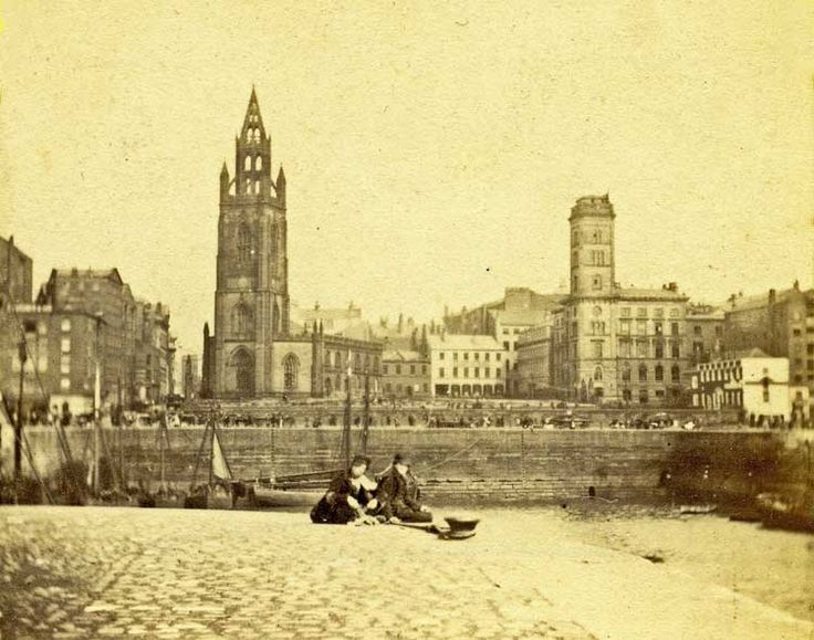 St. Nicholas Church, Liverpool, England. Several of my ancestors were christened or married here. George's dock in foreground
