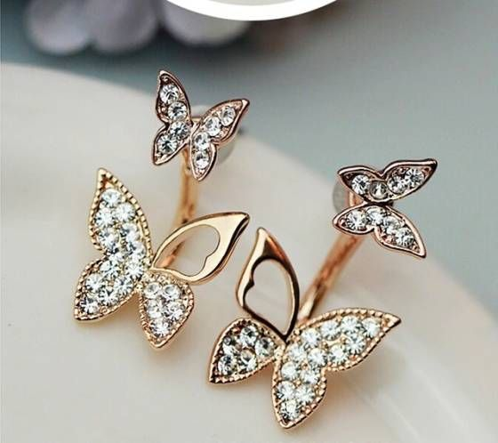 Shopo.in : Buy Double Sided Butterfly Earrings online at best price in New Delhi, India