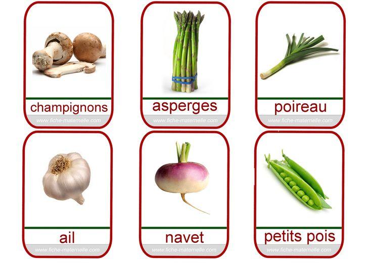 Imagier sur les légumes