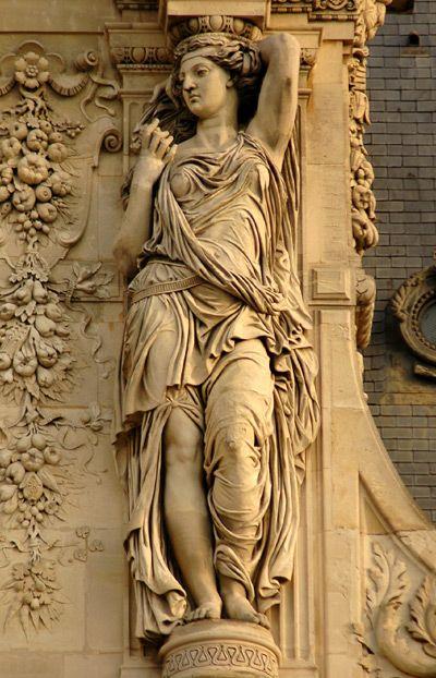 Cariatides, designed by  Pierre-Jules Cavelier (1857), Pavillon Turgot, Louvre Museum, Paris I