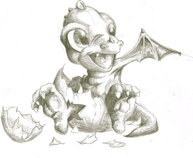 """baby dragon """"aaaawww too cute""""   drachen skizze"""