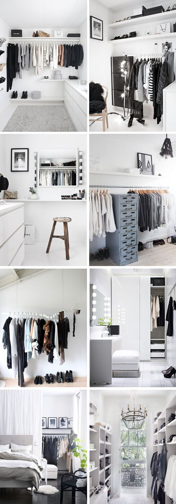 Wardrobe / closet inspiration - perfect for my dressing room ideas