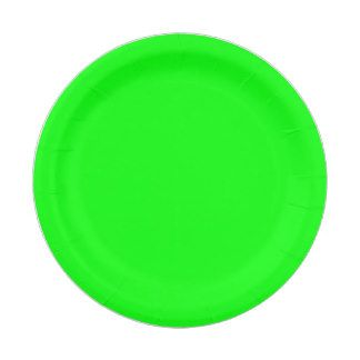Neon Green Paper Plates 7 Inch Paper Plate
