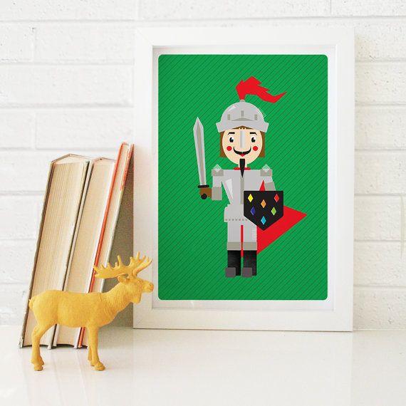Knight Print by Timi