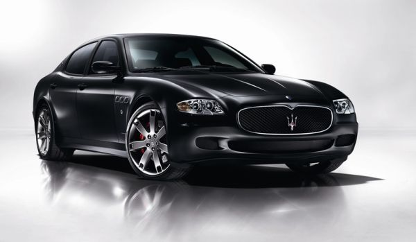 A Maserati Quattroporte. It's Italian. It has a 4.7 litre, V8 engine. It looks awesome.