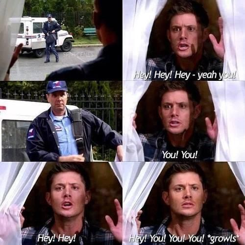 I love this episode. A Dogged-Dean Afternoon? Something like that. Dean consumes a potion that allows him to communicate with their only witness to two crimes: a dog. There are unexpected side effects, such as acting like one....