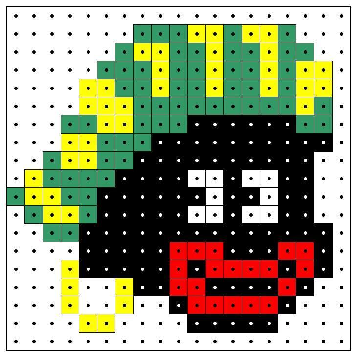 Kralenplank: Zwarte Piet