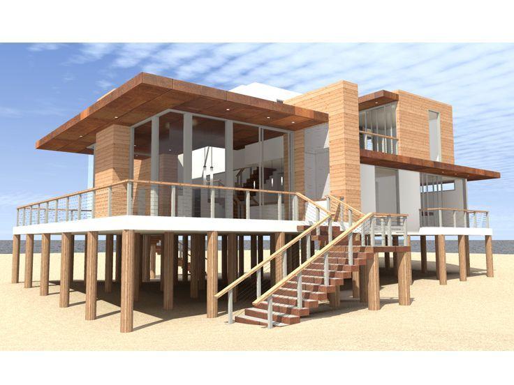 50 best house on stilts images on pinterest beach house for Modern stilt house plans