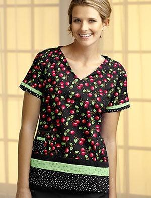 Tafford Uniforms - Mary Engelbreit Chair of Bowlies Print Scrub Top