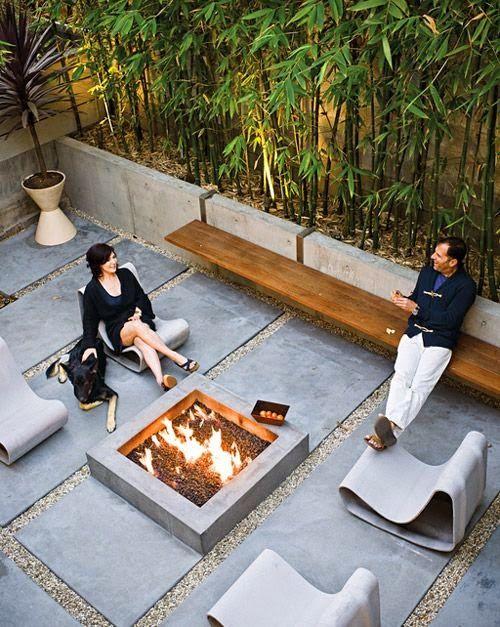 Industriele betonnen tuin garden industrial concrete