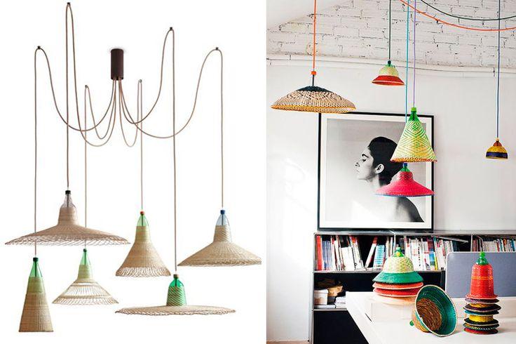   Lámparas de mimbre y bambú para decorar tu hogar
