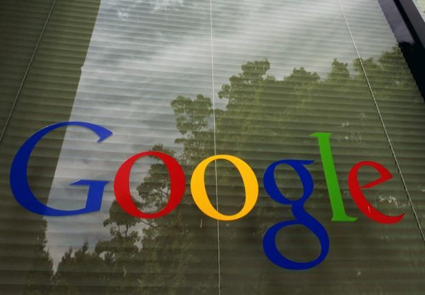 A google logo is displayed at the headquarters in Mountainview, California. 2012