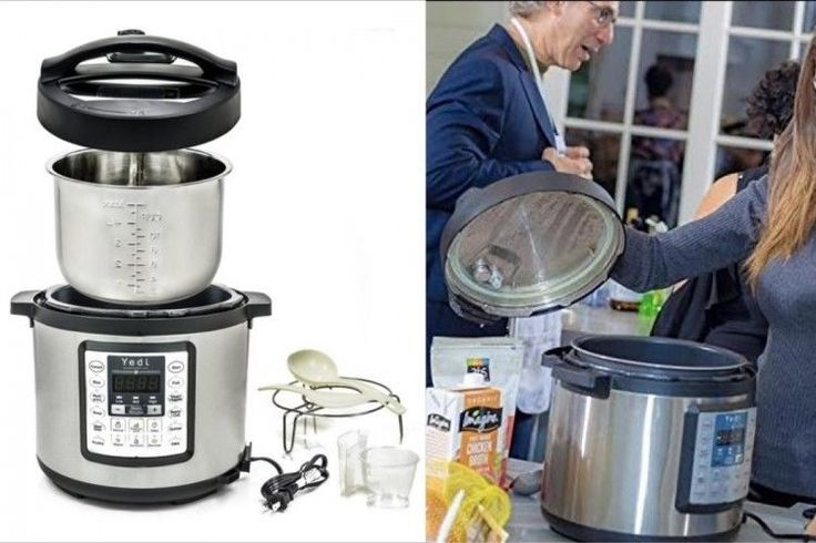 Programmable Pressure Cooker Electric Stainless Steel Kitchen Slow Cooking 6 Qt #ProgrammablePressureCooker