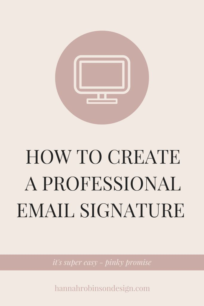 creating a professional email