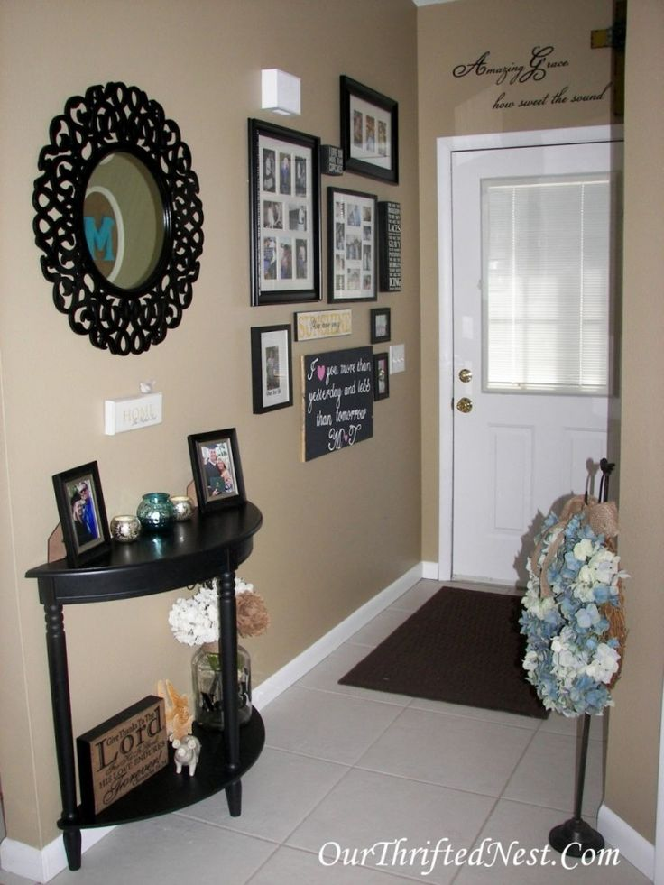 Narrow Wall Decoration Ideas : Best ideas about small entryway tables on