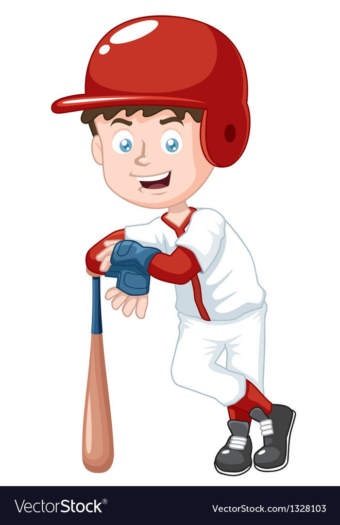 Baseball Player Vector Image On Vectorstock Baseball Players Baseball Players