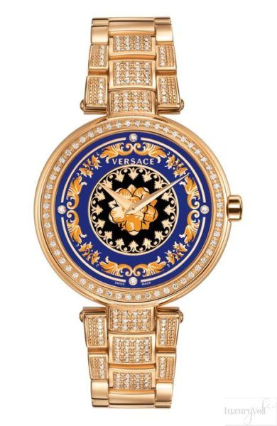 025a7b84878 Sophisticated and luxurious prints adorn the dial of Mystique Foulard  women s watches from VERSACE. A statement maker