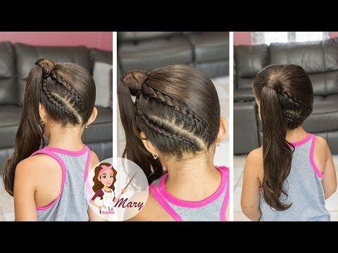 Peinados Fáciles Para Niña Paso a Paso / Tutorial trenzas de moda - YouTube
