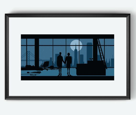 San Francisco Skyline The Fight Club inspired Poster // Movie print art poster…