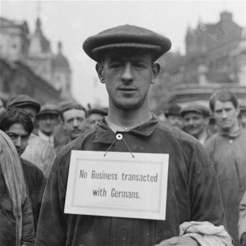 """Smithfield meat market c.1915:""""No Business transacted with Germans"""""""