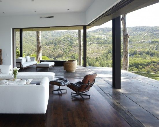 Griffin Enright Architects. Love the wide open spaces with nature peeking through :): Modern Living Rooms, Living Rooms Design, Open Spaces, The View, Indoor Outdoor, Enright Architects, Glasses Doors, Griffins Enright, Modern Design