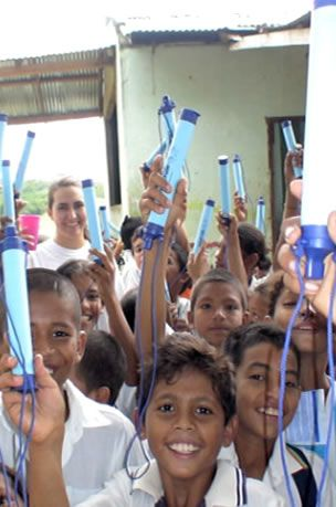 Safe water education with LifeStraw in school! #Colombia