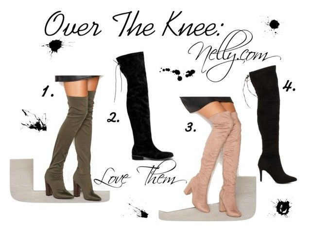 Over The Knee by enjalundin on Polyvore featuring Nly Shoes