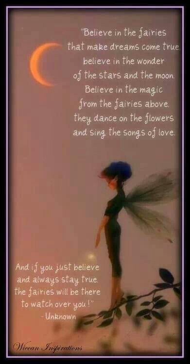 Believe In The Fairies Wicca Fairy Quotes Fairy