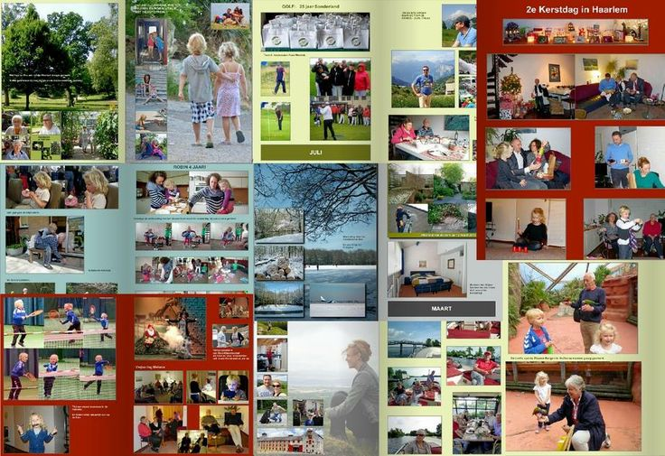 Pagina's uit het foto jaarboek 2013 dat ik maakte.