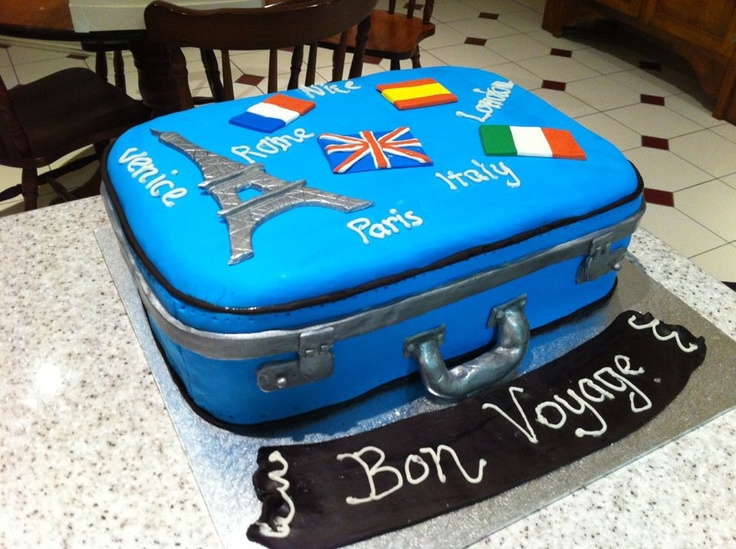 Cake Decorating Ideas Bon Voyage : 26 best images about Bon Voyage on Pinterest Vintage ...