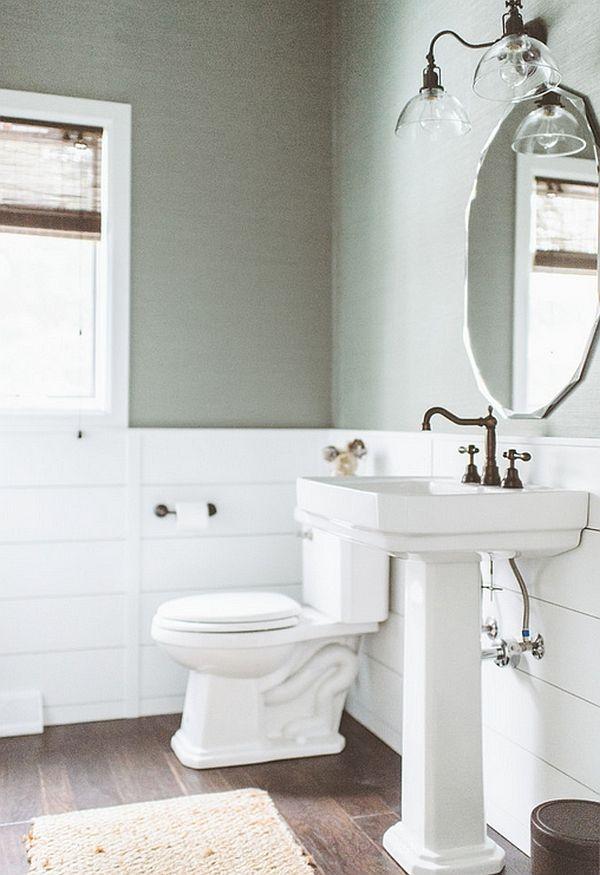 Lovely rustic powder room idea