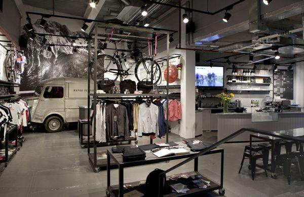 Rapha Cycle Club - London by David Hurren, via Behance