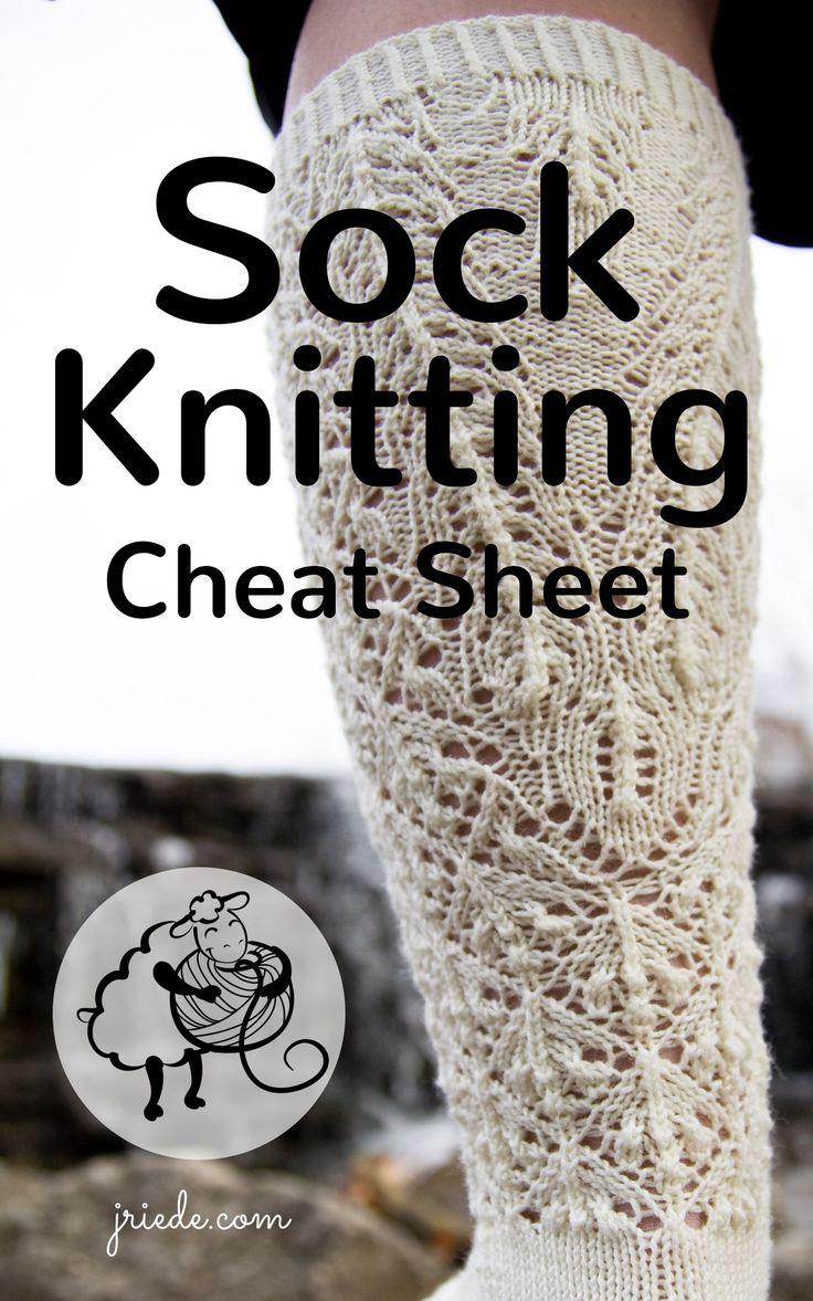 Sock Knitting Cheat Sheet