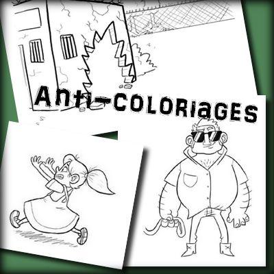 A présent, ce sont mes deux fichiers d'anti-coloriages ou dessins à compléter que je vous remets en ligne ici. Les images proviennent d'ici : clique ! Je les ai retravaillées, parfois é…