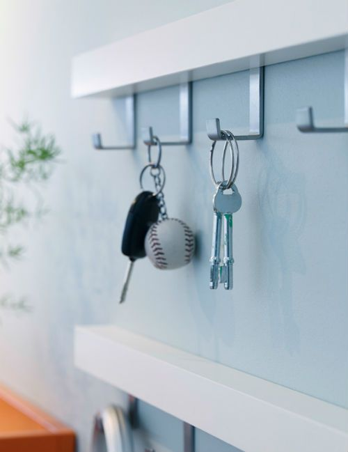 In our opinion it's difficult to have too many hooks in an entry. Handy for taking care of all manner of things from school bags to car keys, tennis rackets to umbrellas. If your hallway floor is full of clutter, consider hooks as a solution.